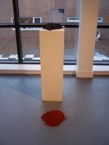 graphite and pigment plinth, 2010