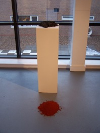 graphite and pigment plinth, 2010