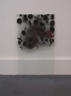 graphite ice on glass, Aber 2010