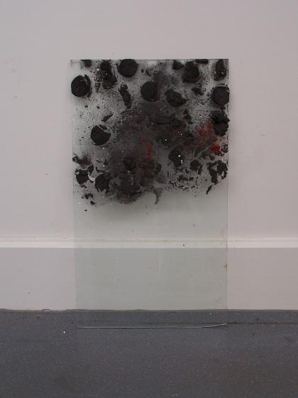 graphite ice on glass, Aber 2010