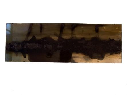 graphite on mirror, 2010