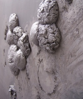 graphite wall 1, detail, Aber 2010