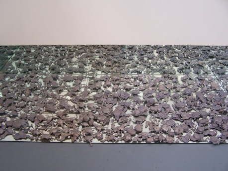 in out, installation view, lead and mirror, 2007