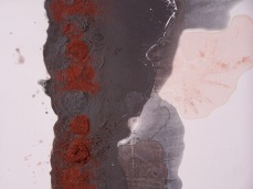 line on gesso, detail, 2010