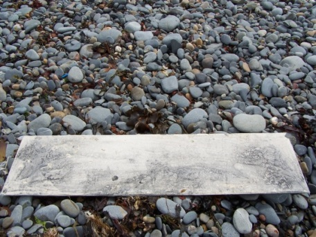 plaster and graphite on glass part 1, Aber 2010