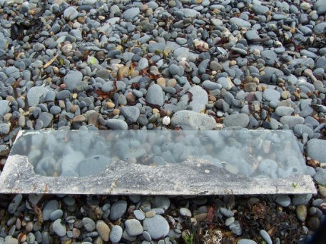 plaster and graphite on glass part 2, Aber, 2010