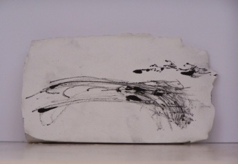 plaster drawing 5, Aber 2010