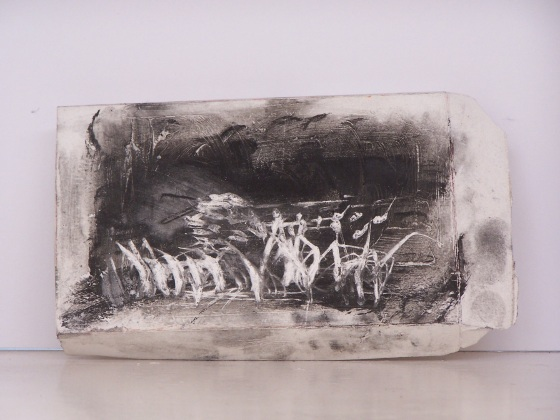 plaster drawing 8, Aber 2010
