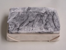 plaster drawing on canvas, Aber 2010