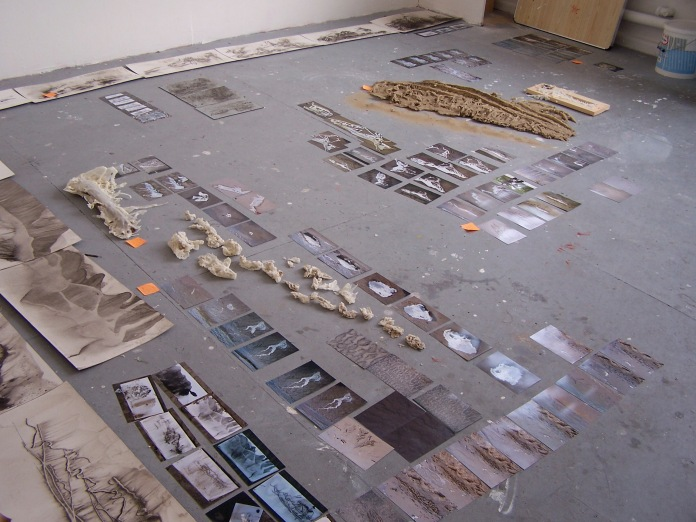 studio view, mixed media, 2006