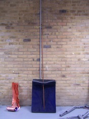 copper pipe and blue, 2015